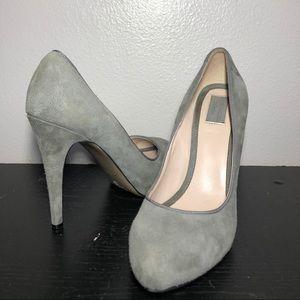 Womens zara suede grey stiletto pumps size 7.5